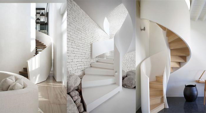 la escalera caracol puede llegar a ser algo con gran potencial y no simplemente algo que conecte una planta u otra este tipo de escaleras pueden llegar a