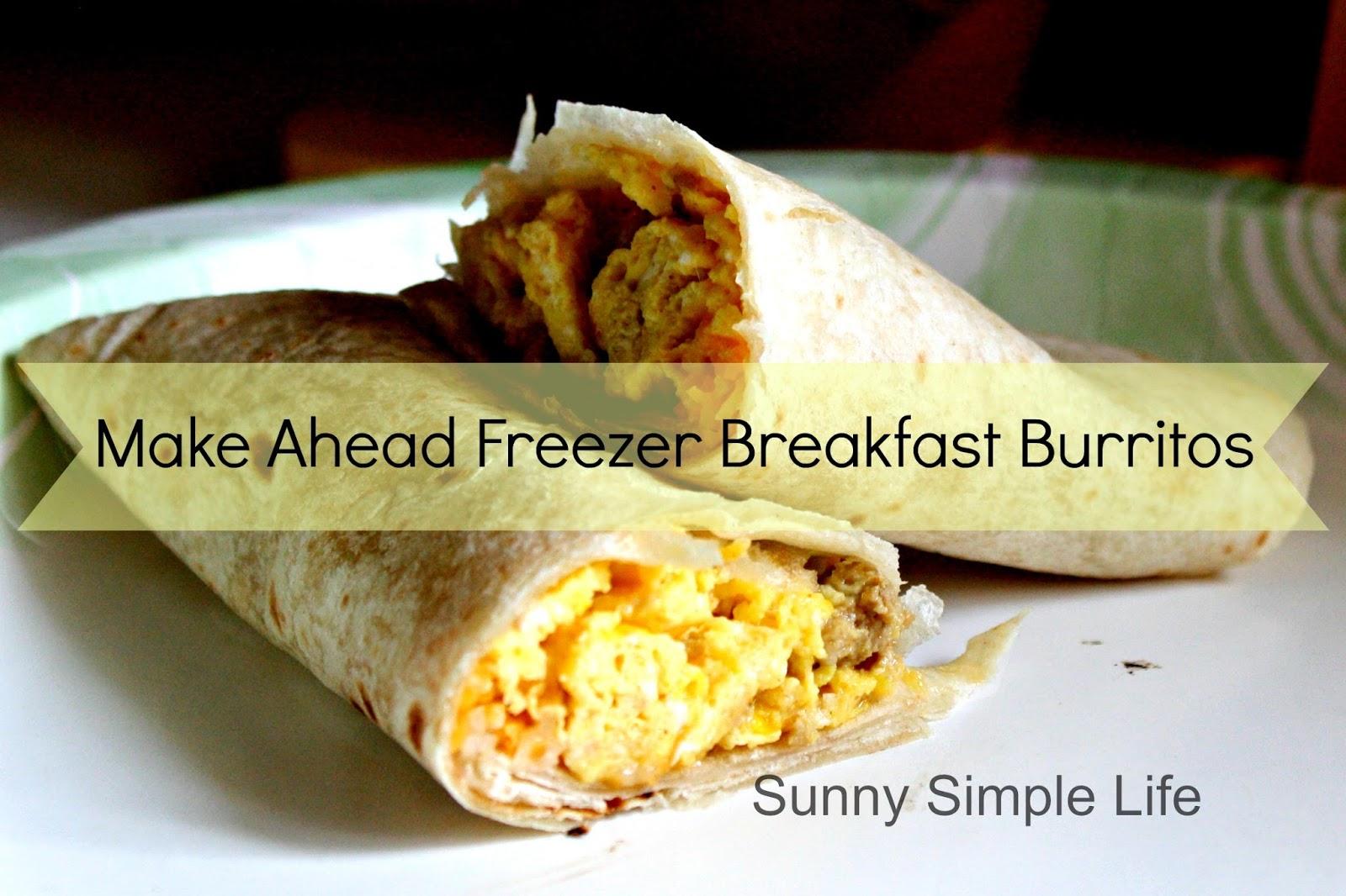 sunny simple life  make ahead freezer breakfast burritos