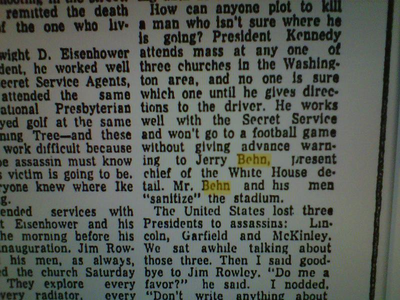 Lewiston Evening Journal 11/11/63 by JIM BISHOP