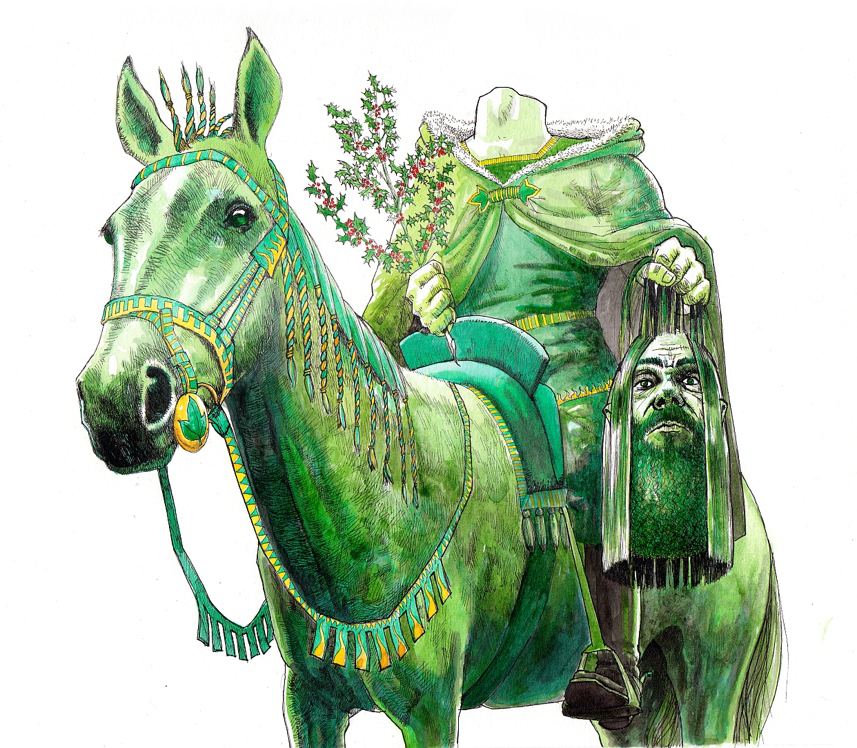 from sir gawain and the green knight summary