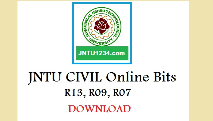 jntuh online bits for civil engineering students r13 r09 download rh jntu1234 com Geology Lab Cartoon Geology Lab Cartoon
