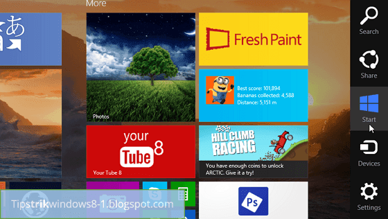 charms bar di windows 8.1