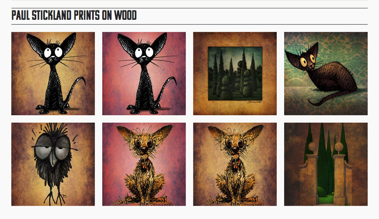 prints on wood, strangestore, paul stickland, wood prints,