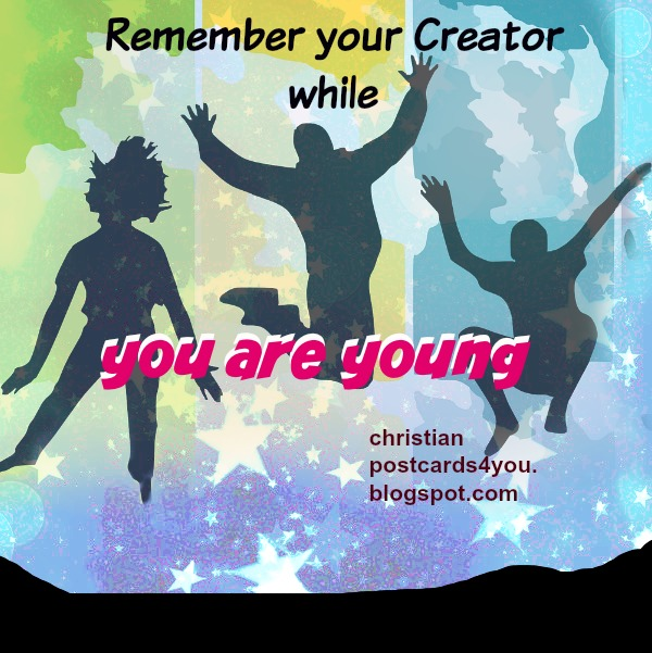 Bible verses for young people, free christian image
