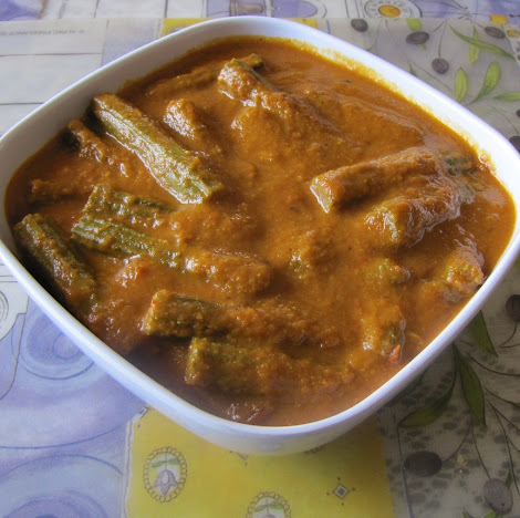 Drumsticks pods and leaves are available all thoughout the year Flavorful Drumstick Curry
