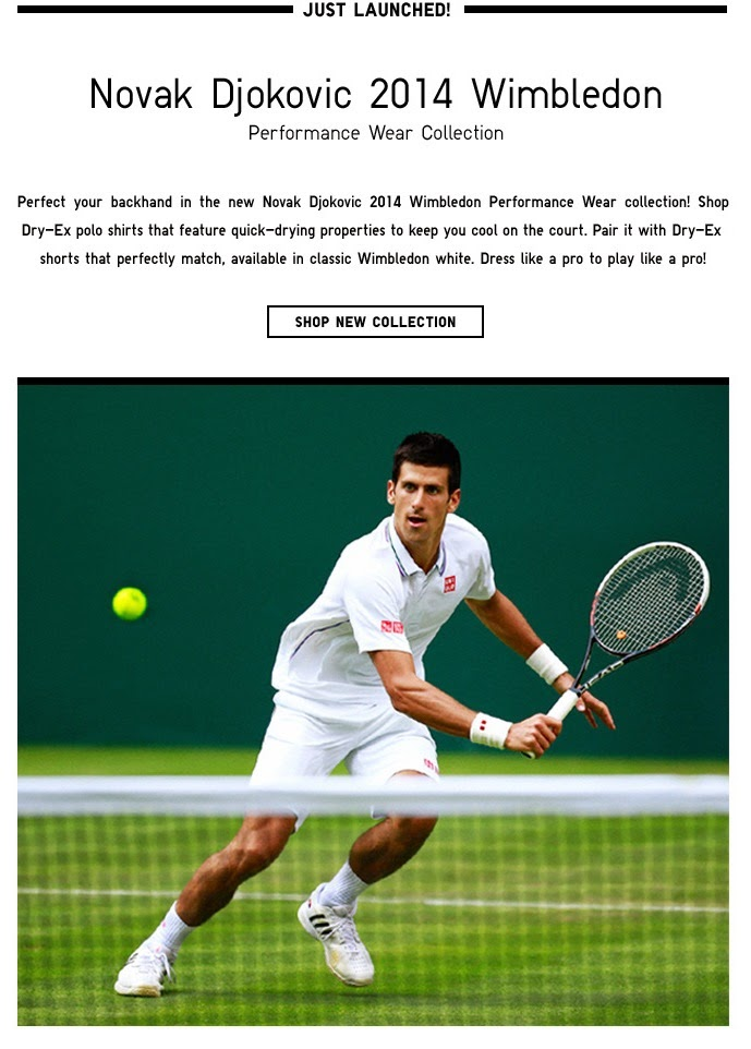 NOVAK DJOKOVIC 2014 WIMBLEDON COLLECTION