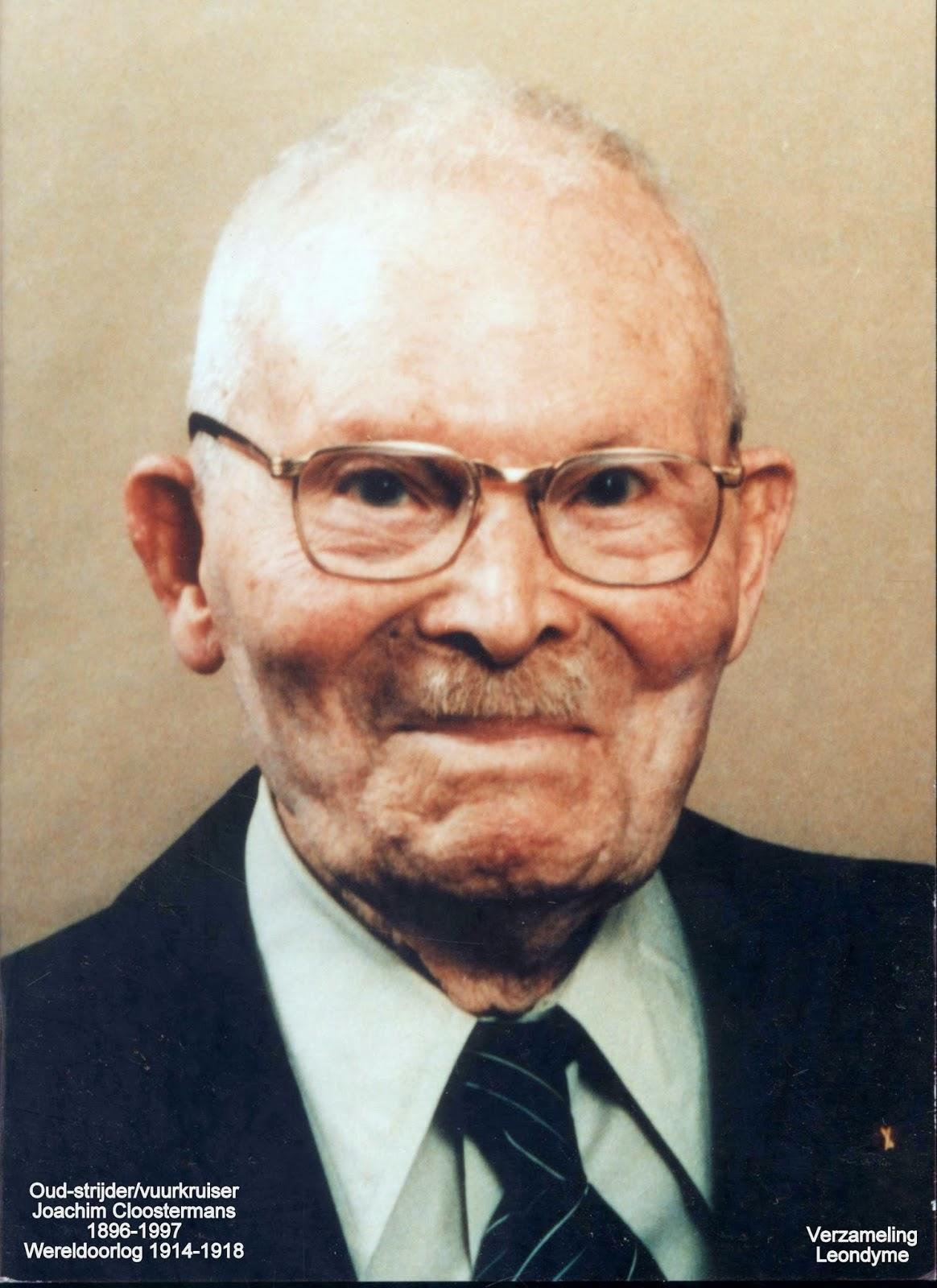 Oud-strijder/vuurkruiser Joachim Cloostermans 1896-1997. Verzameling Leondyme