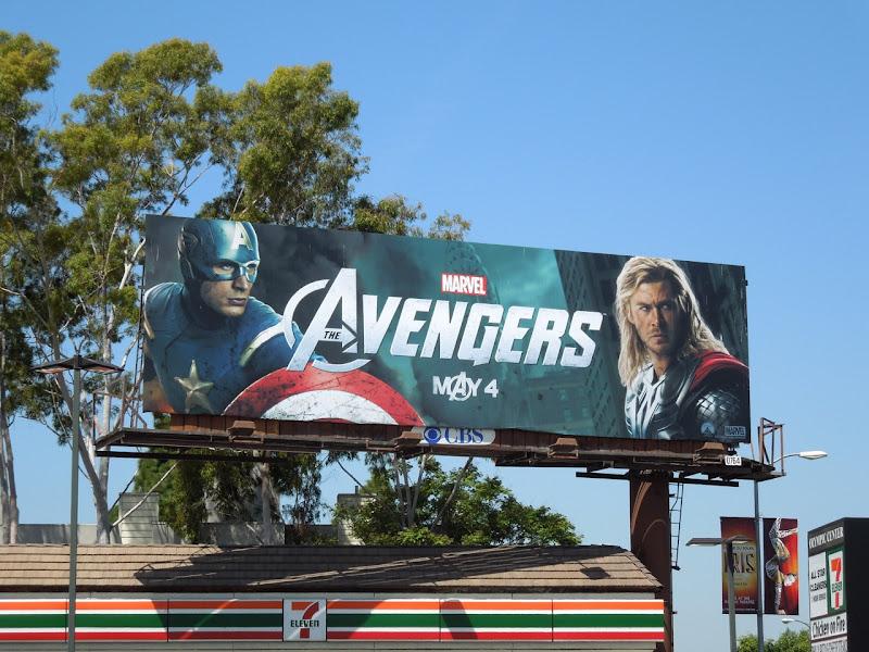 Captain America Thor Avengers billboard