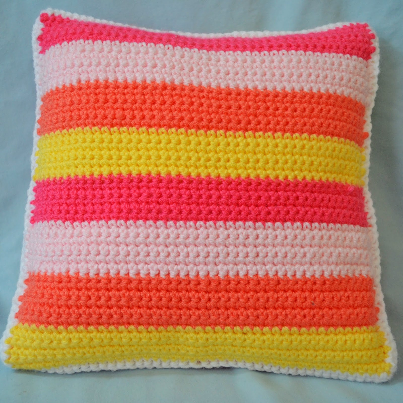 made in single crochet stripes and I used a simple single crochet ...
