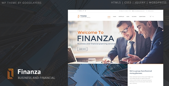 download Finanza - Business & Financial WordPress Theme
