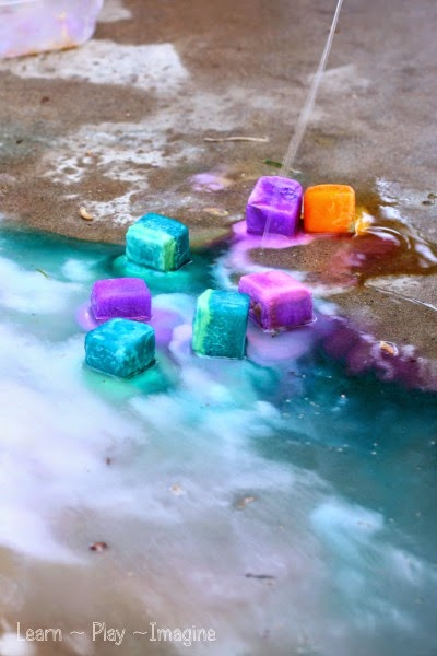 The coolest summer recipe for play - erupting ice chalk!