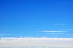 Weißer Vorbote aus Richtung Horizont...