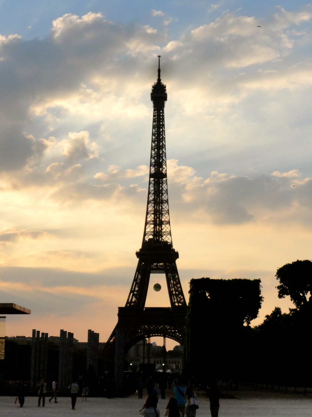 Eiffel Tower at sunset, Paris