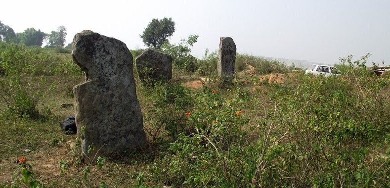 MENHIRS...the foreground one is shaped unusually. Wonder why ?