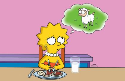 lisa simpson vegetarian vegan photo