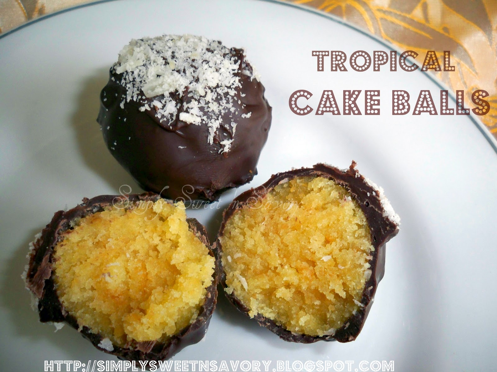 Simply Sweet 'n Savory: Tropical Cake Balls; Tagged & Award