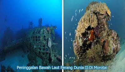 Peninggalan bawah laut Pulau Morotai