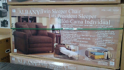 Sit comfortably and sleep soundly with the Synergy Home Albany Twin Sleeper Chair