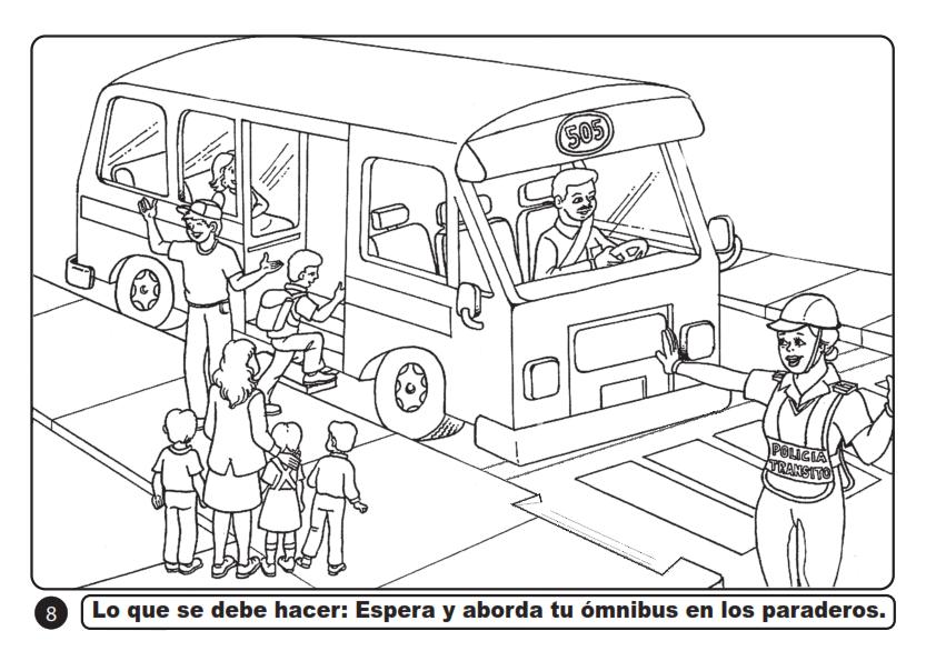I.E. Nº 2024 NIVEL PRIMARIA: SEGURIDAD VIAL - IMÁGENES