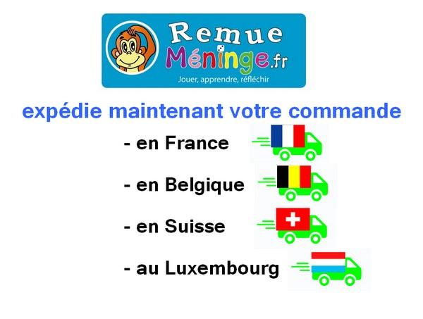 Expédition des jeux de la boutique www.remuemeninge.fr