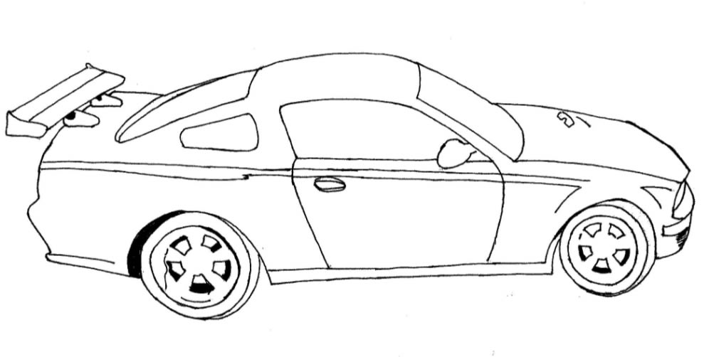 Desenho de um carro de corrida para colorir Hello Kids - imagens para colorir carros de corrida