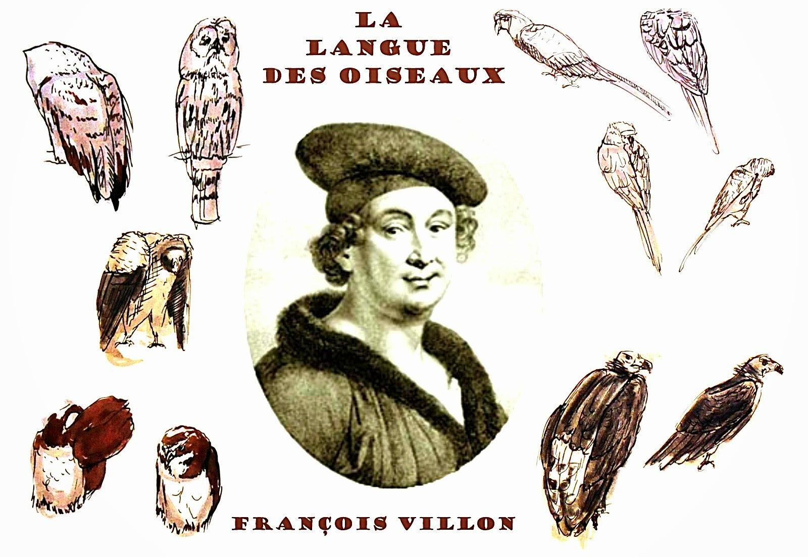 Langue des Oiseaux François Villlon Livre acronyme acrostiche