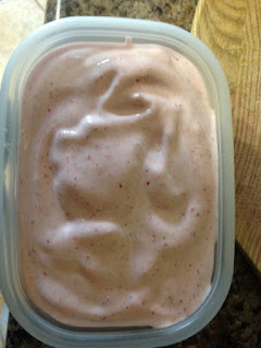 home made healthy strawberry ice cream