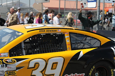 Ryan Newman in his car at Fontana