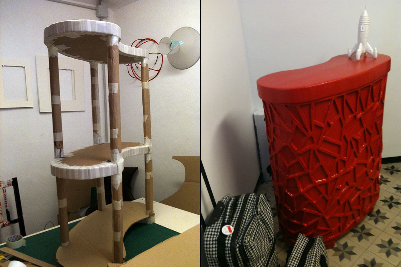 Muebles De Carton Reciclado Excellent Muebles De Carton Muebles  # Muebles De Tubos De Carton