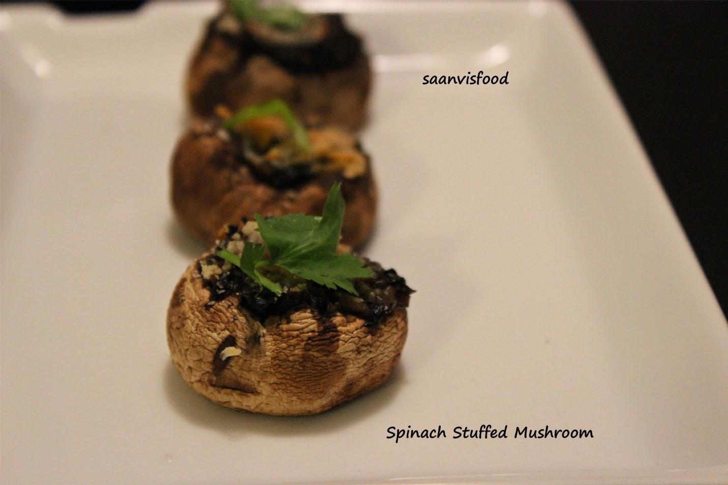 Spinach Stuffed Mushroom