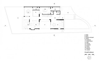 floor plan of the house's dynamic modern