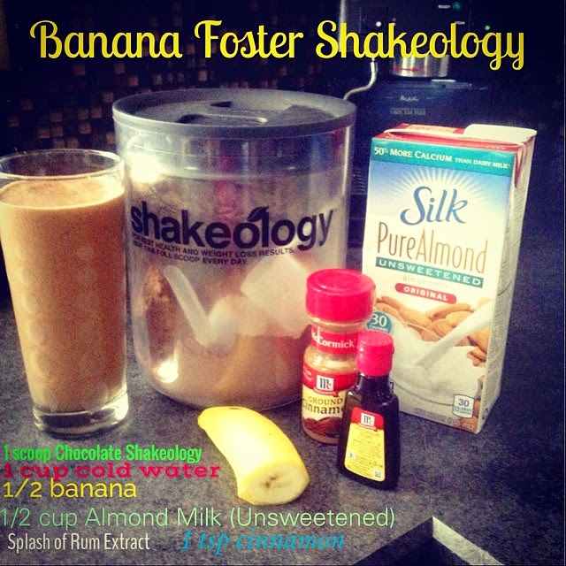 Shakeology, Chocolate Shakeology, Shakeology Recipes, Banana Foster Shakeology