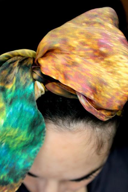 silk scarf hair accessory- Wish List- Catherine Masi