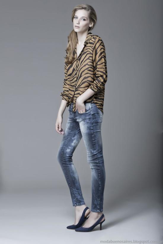 Camisas y blusas otoño invierno 2014 Moda mujer invierno 2014.