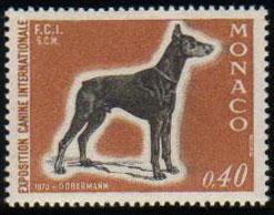 1970年モナコ公国 ドーベルマンの切手