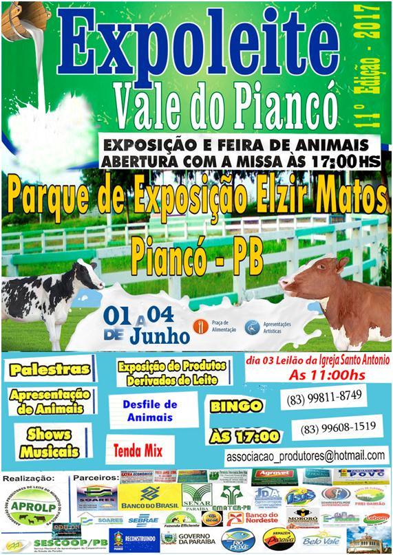 FESTA DO LEITE EM PIANCÓ: PARTICIPE!