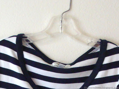 how to keep shirts on their hangers: DIY Grippy Hangers