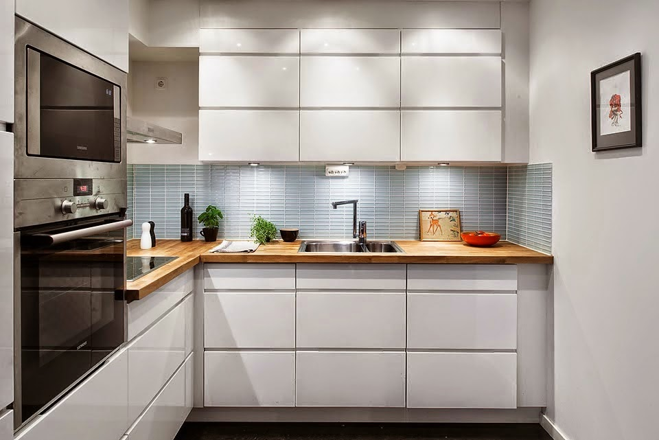 Decoraci n f cil 10 ideas para cocinas peque as small lowcost - Casas amuebladas modernas ...