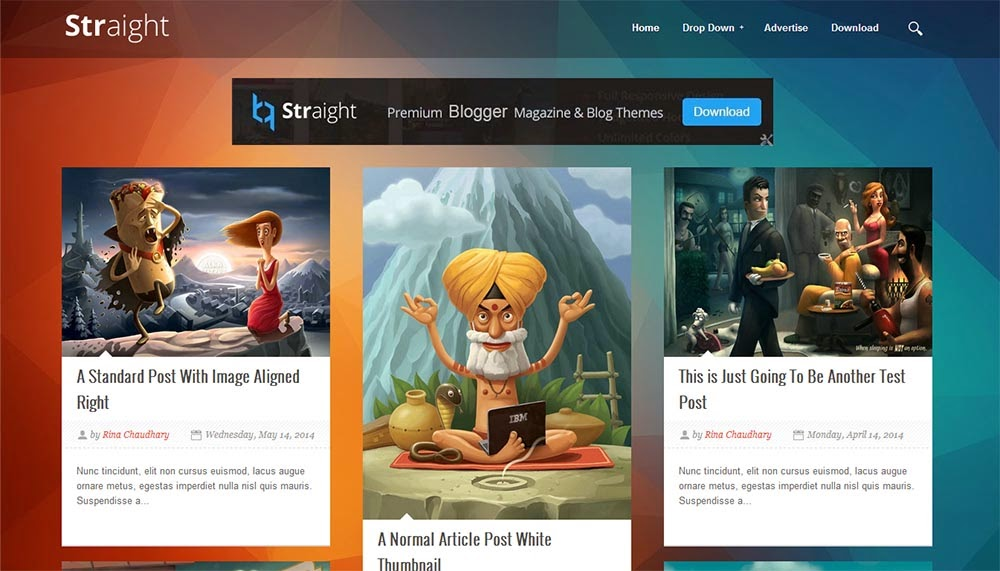straight blogger template