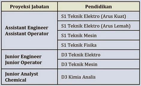 Proyeksi Jabatan dan Syarat Pendidikan - Lowongan Kerja Terbaru PT Pembangkitan Jawa Bali (PT PJB) Maret 2015