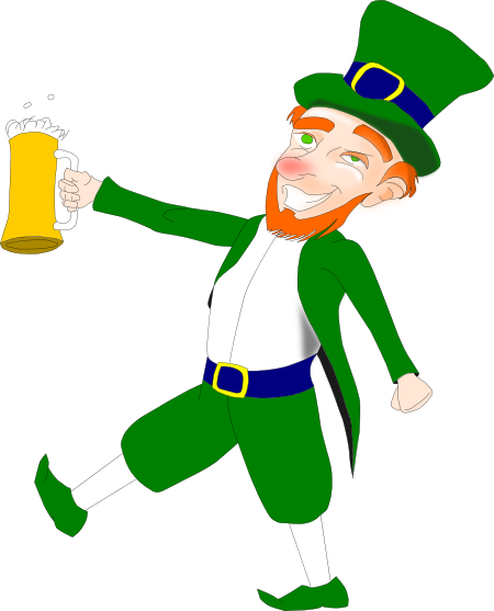 Drunken Leprechaun For St. Paddies Day