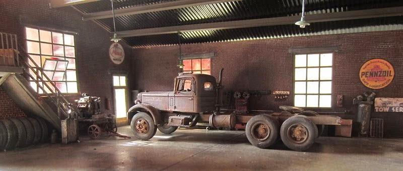 Mack LT in the garage