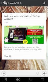 Lazada Message on WeChat