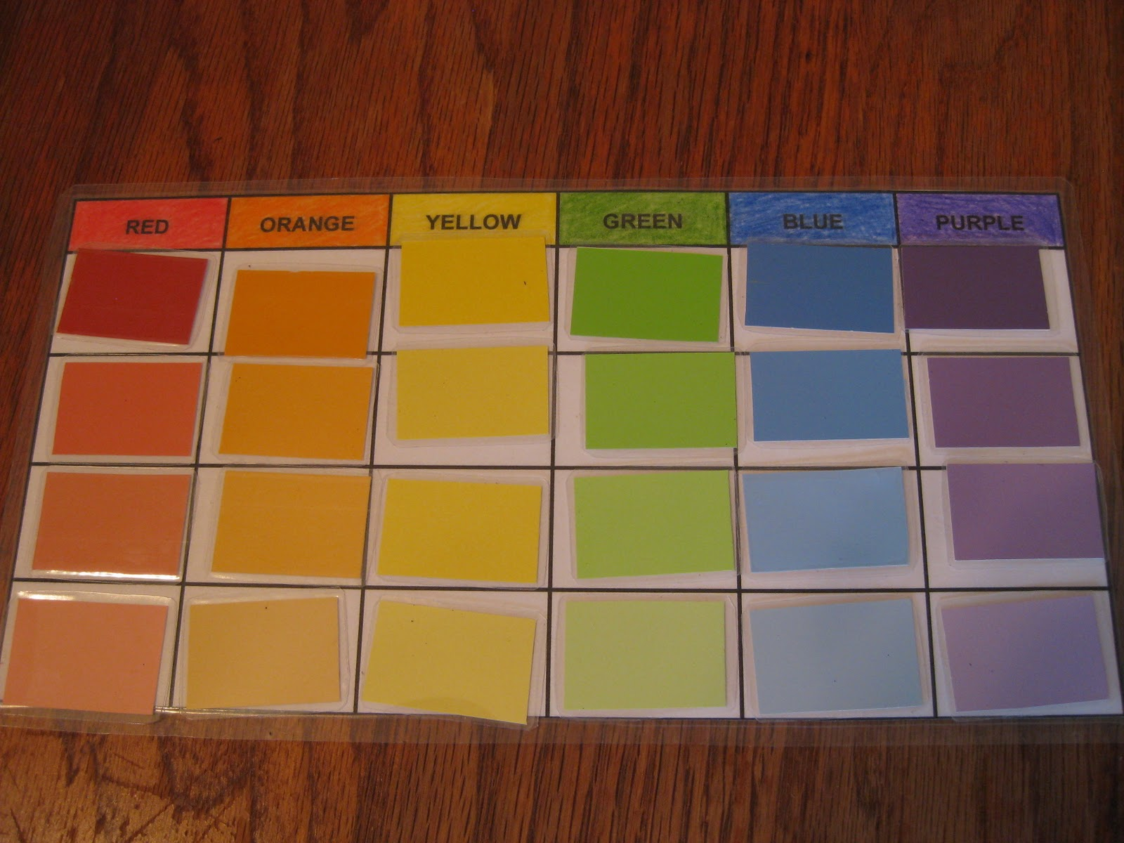 Lilliput Station Color Sorting With Paint Sample Cards