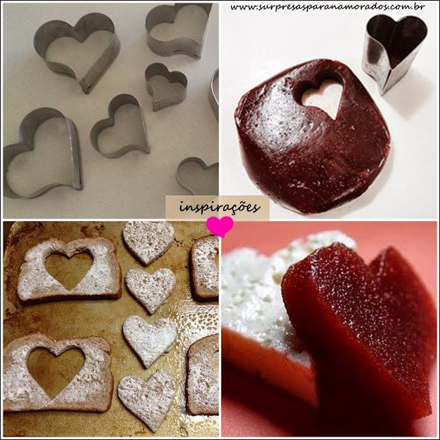 cortador de comida em forma de coração