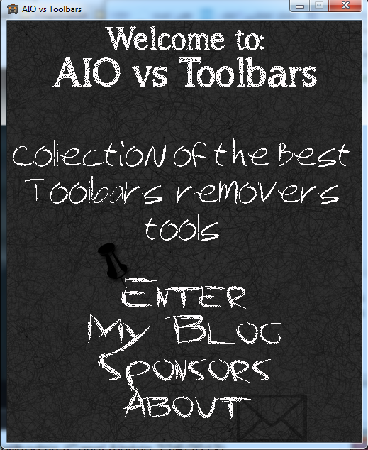 AIO vs Toolbars menu window