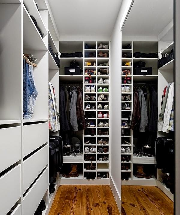 Great Small Walkin Closet Ideas For Men Shoes And Clothes With Narrow Walk In