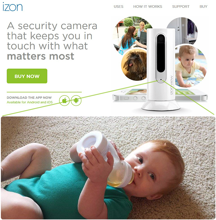 The affordable IZON View retails for $99 and offers unlimited streaming of noise and video events to any app capable Android or Apple device. Keep an eye on your family, pets, or home in full color with this easily portable, high quality, streaming camera. #ad