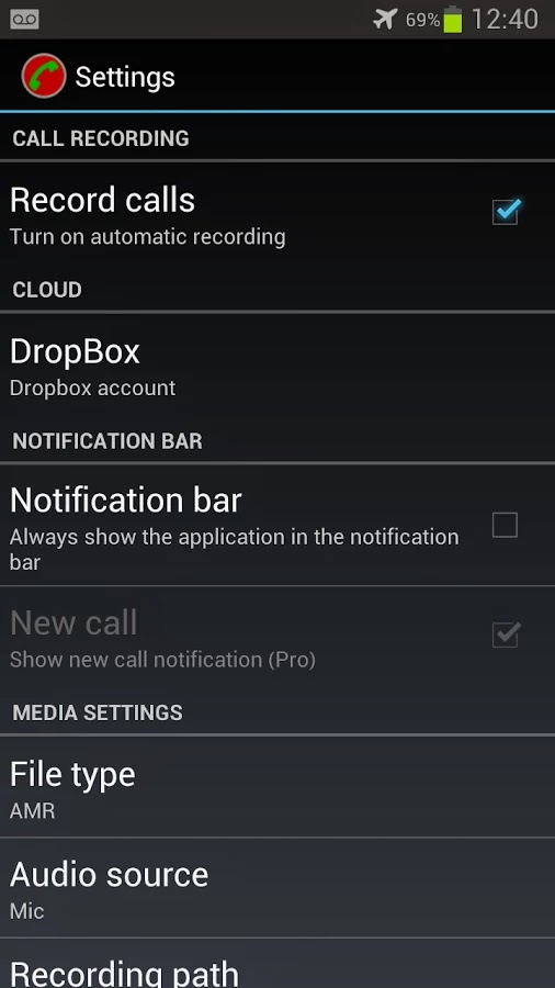 Automatic Call Recorder Pro v3.67