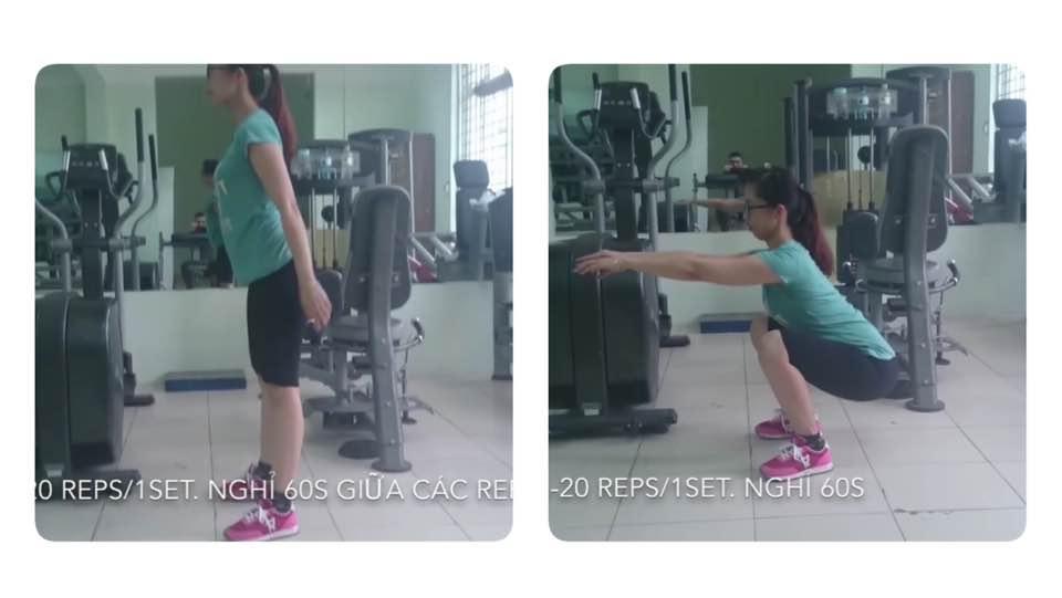 Bài tập squat săn chắc mông đùi cho nữ